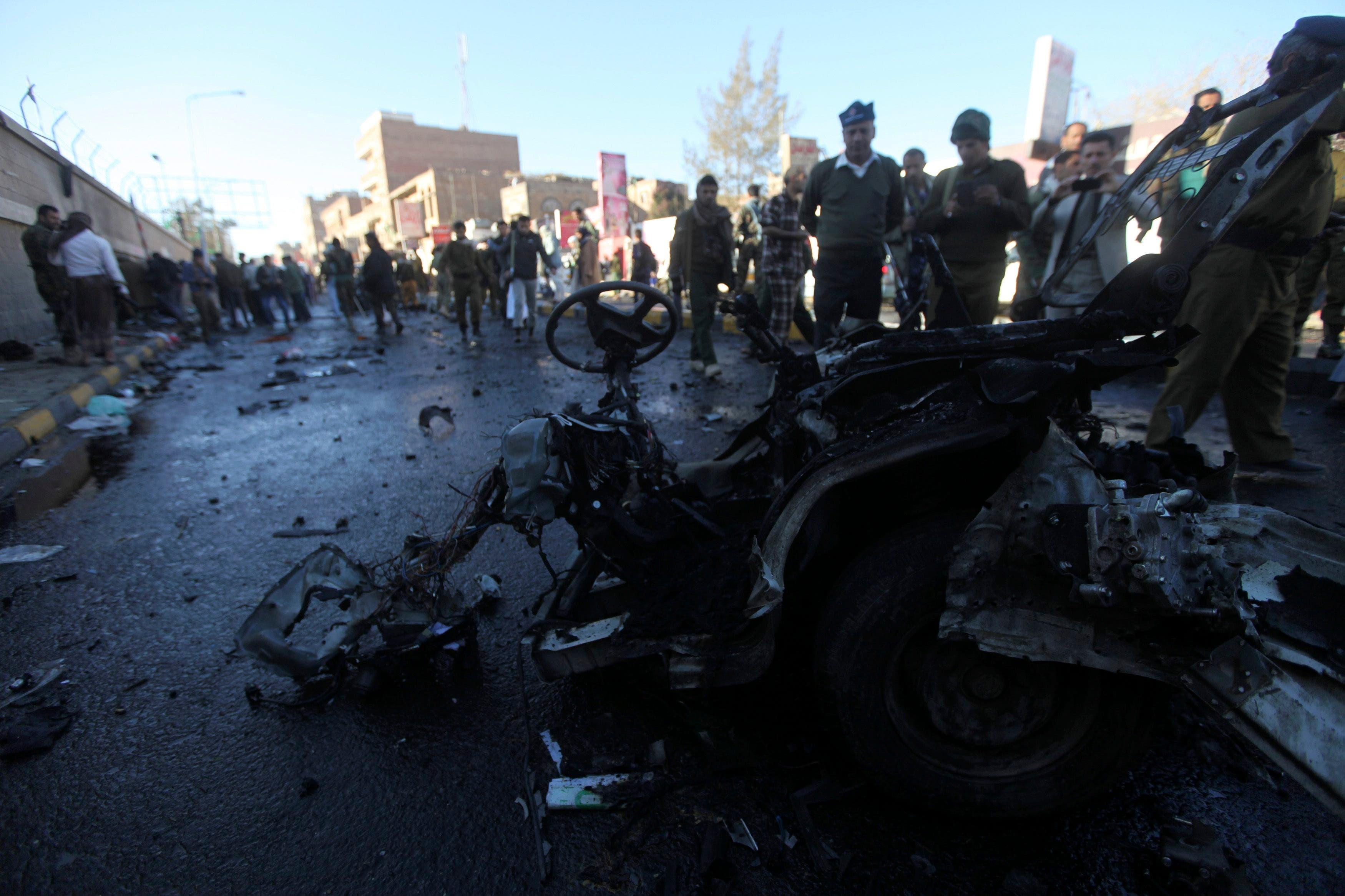 صنعاء عشرات القتلى في تفجير دامٍ فجراً7/1/2015  9131215c-c05a-4008-9285-111fb85438bc