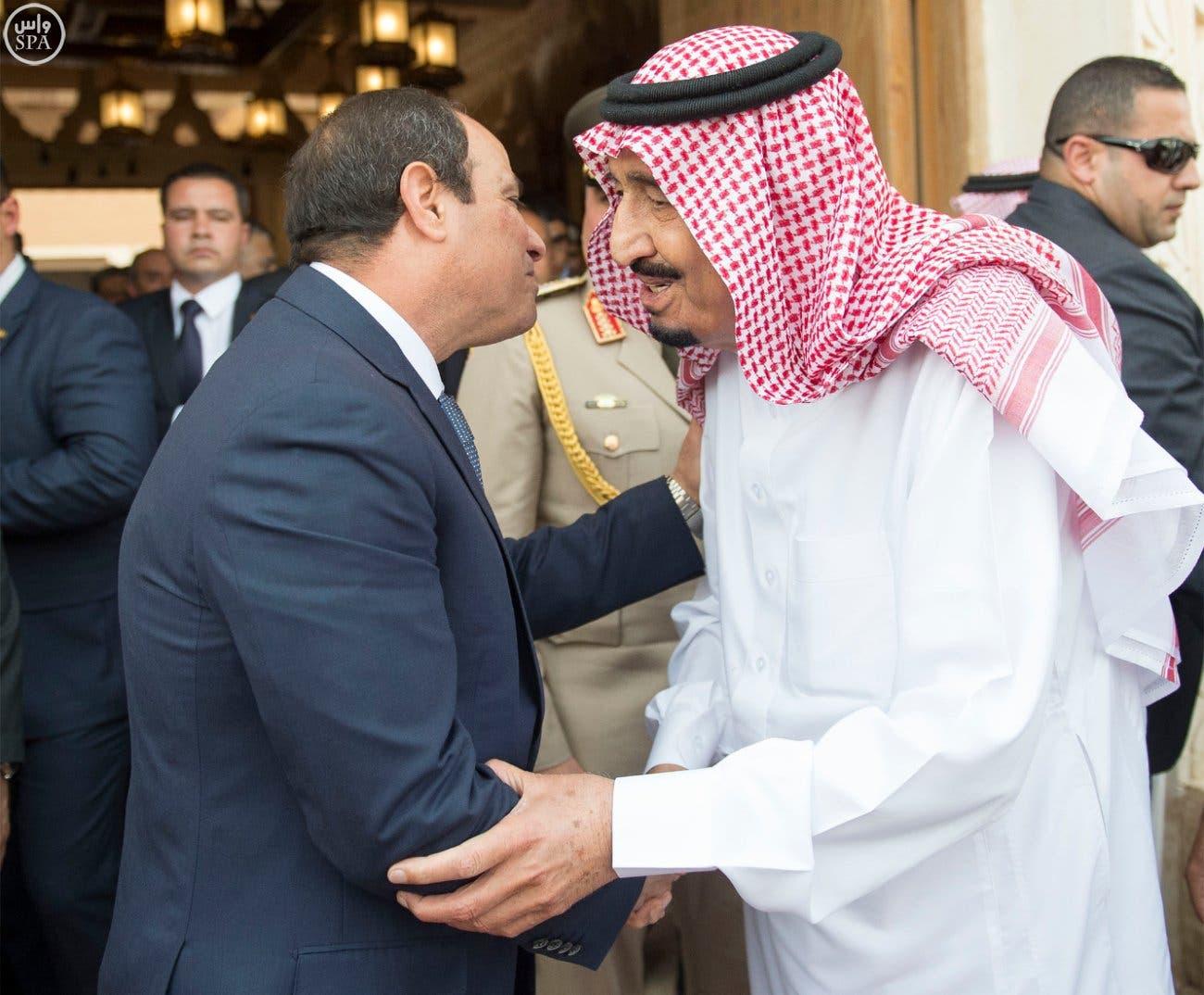 الملك سلمان يلتقي عبدالفتاح السيسي في #قصر_العوجا 959e1d6e-611f-4c62-9ee9-13627a01cb77