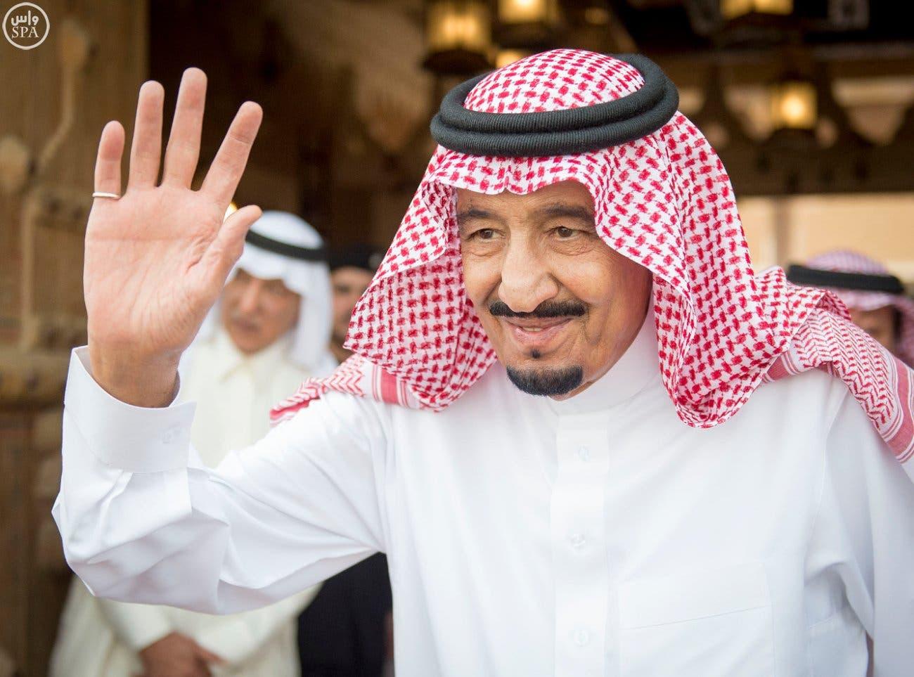 الملك سلمان يلتقي عبدالفتاح السيسي في #قصر_العوجا C2dbaceb-1916-4ee8-823a-e953ddb2a121