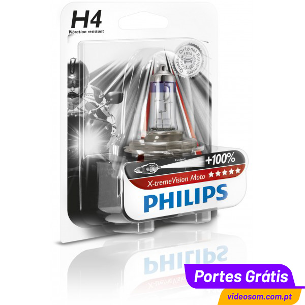 Mejor lampara Halogena H4 60/55W Philips-x-treme-vision-moto-h4-