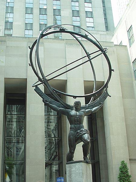 Le mythe de la chute de Lucifer et de Prométhée Atlas-1a