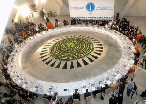 """Will the """"Abrahamic faiths"""" stay the way they are now? Delegates-of-the-ii-congress-of-leaders-of-world-and-traditional-religions-attend-a-plenary-session-in-astana-12-september-2006-a-three-day-forum-on-r"""