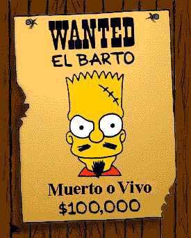 Passage par la case présentation   :-D Wanted_El_Barto