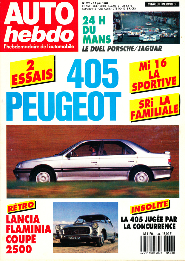 1987 - 2 essais : Mi16 LA SORTIVE - SRi LA FAMILIALE / LA 405 JUGÉE PAR LA CONCURENCE Mi16SRi