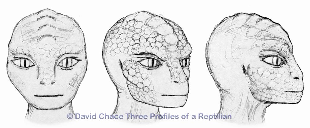 ЗАГАДОЧНОЕ ИНТЕРВЬЮ С РЕПТИЛОИДОМ ЛАСЕРТА 1-Я ЧАСТЬ Chace-Three-Profiles-Reptilian