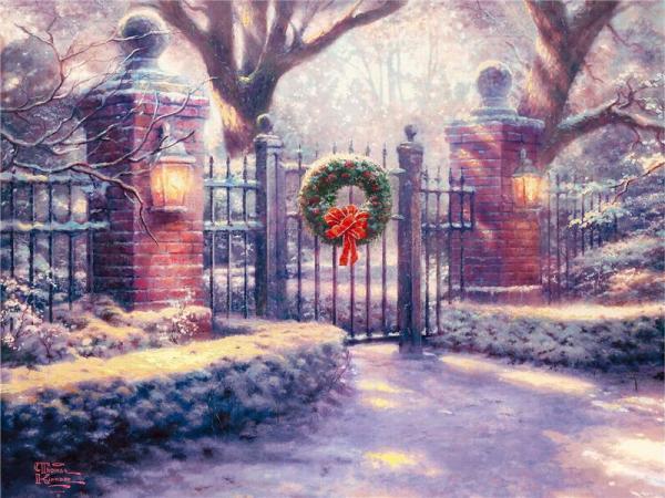 Поговорим об  искусстве. Christmas_Kinkade_5