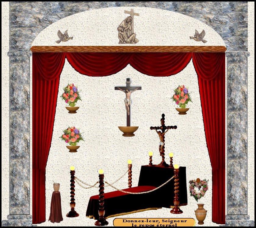 Novembre : Prions pour nos chers défunts les âmes du Purgatoire ! Altar_defunts