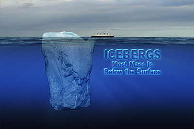 100. godišnjica potonuća Titanica 400x266_04041956_icebergsbelowsurface
