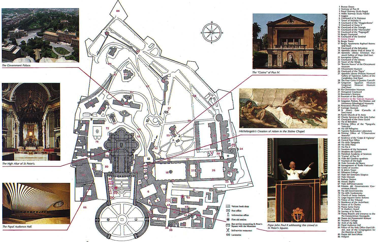 Parc d'attraction autour de la génèse Rome_moderne_vatican_map