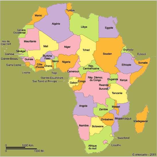 La chasse au trésor de l'été Cartedelafrique