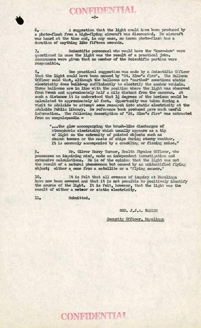 Document déclassifié des Archives Nationales Australiennes UFO_2_tcm11-26293