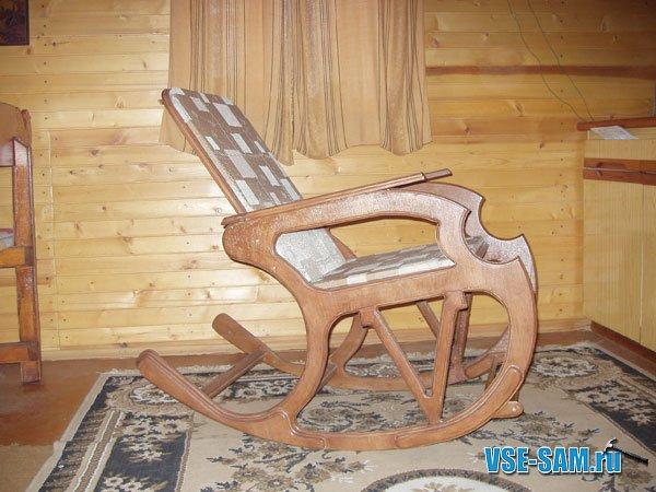 Кресло-качалка из фанеры, подкатной столик. 1201286844_k