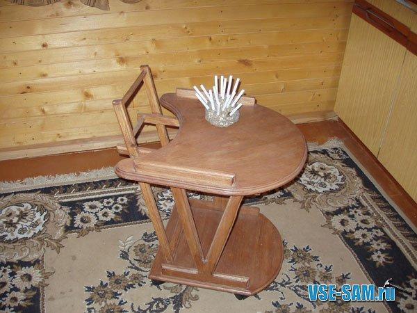 Кресло-качалка из фанеры, подкатной столик. 1201286844_s