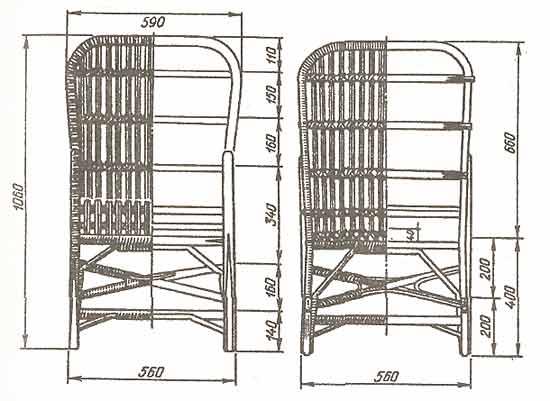 Кресло-качалка из фанеры, подкатной столик. 1203417312_image002