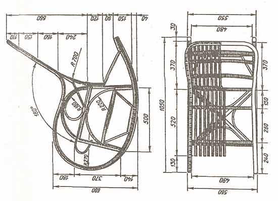 Кресло-качалка из фанеры, подкатной столик. 1203417312_image003
