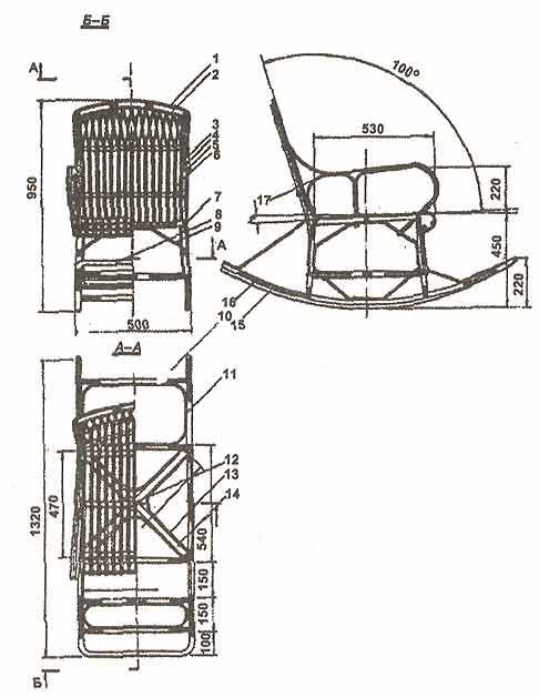 Кресло-качалка из фанеры, подкатной столик. 1203417312_image004