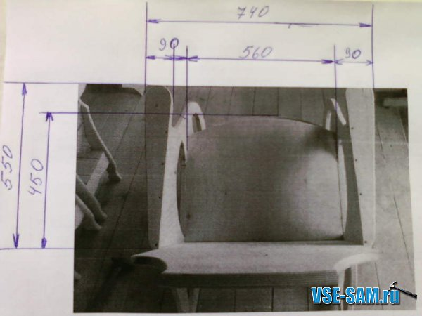 Кресло-качалка из фанеры, подкатной столик. 1289397581_1-2