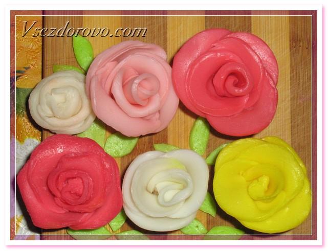 Нежные розочки из детского мыла Soap-roses-08