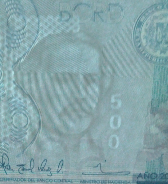 Republica Dominicana 500 pesos 2014 17833