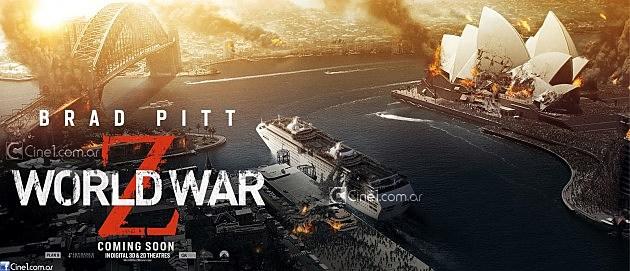 """FILM >> """"Guerra Mundial Z (World War Z)"""" World-war-z-poster-banner-sydney-630x271"""
