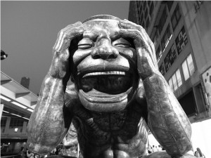 Transcending Human Madness Insanity_laughter_statue-300x225