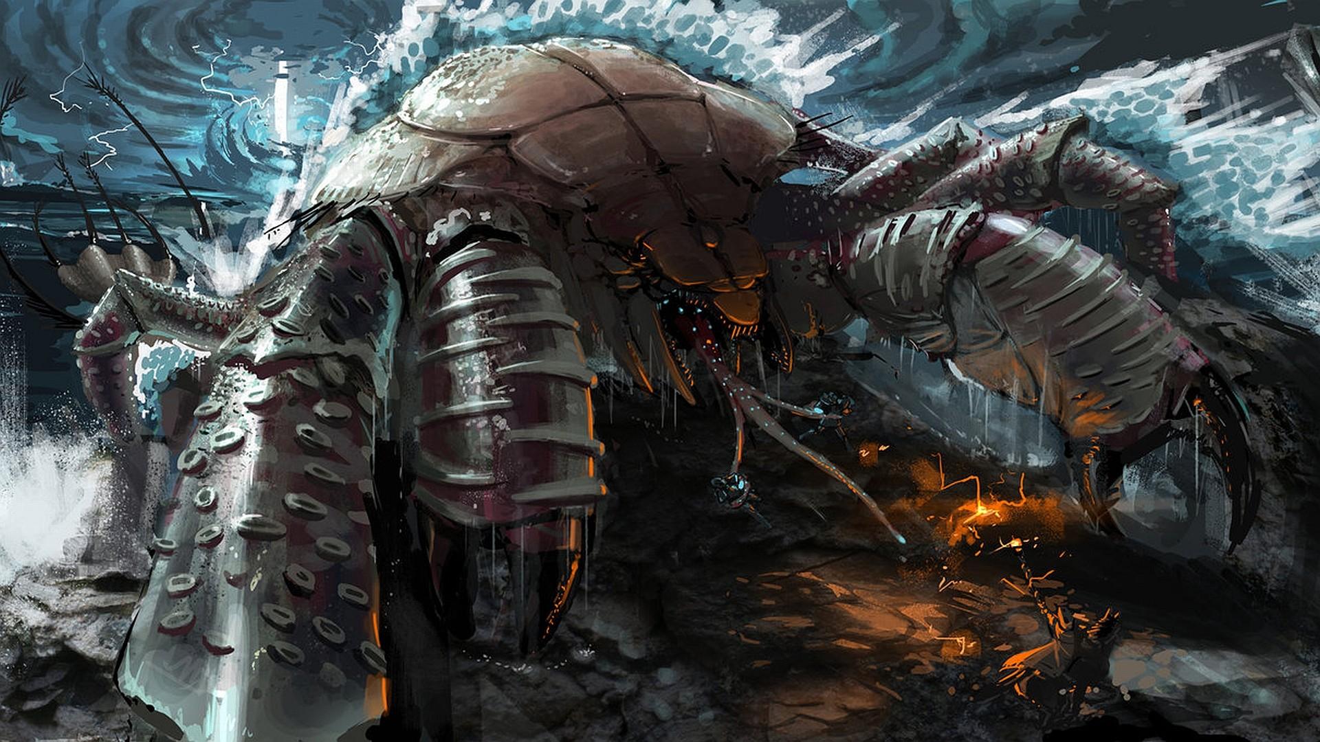 Guia Criaturas Magicas Giant-crab-monster