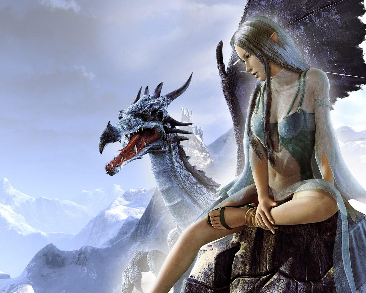 Jogo da Imagem do Google - Página 8 Dalish_Elf_and_Blue_Dragon