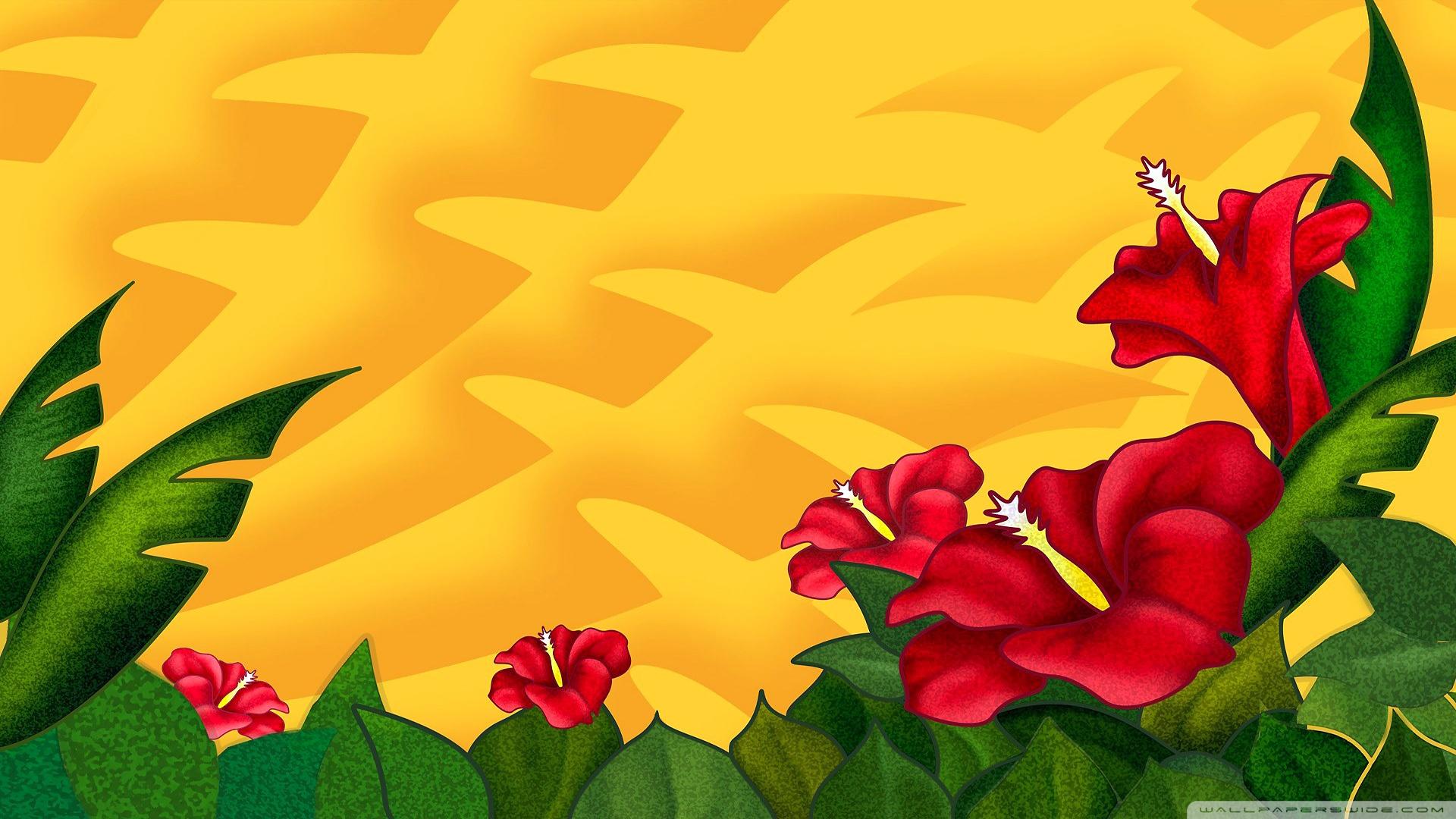 வால்பேப்பர்கள் ( flowers wallpapers ) 01 - Page 6 Hibiscus_flowers-wallpaper-1920x1080