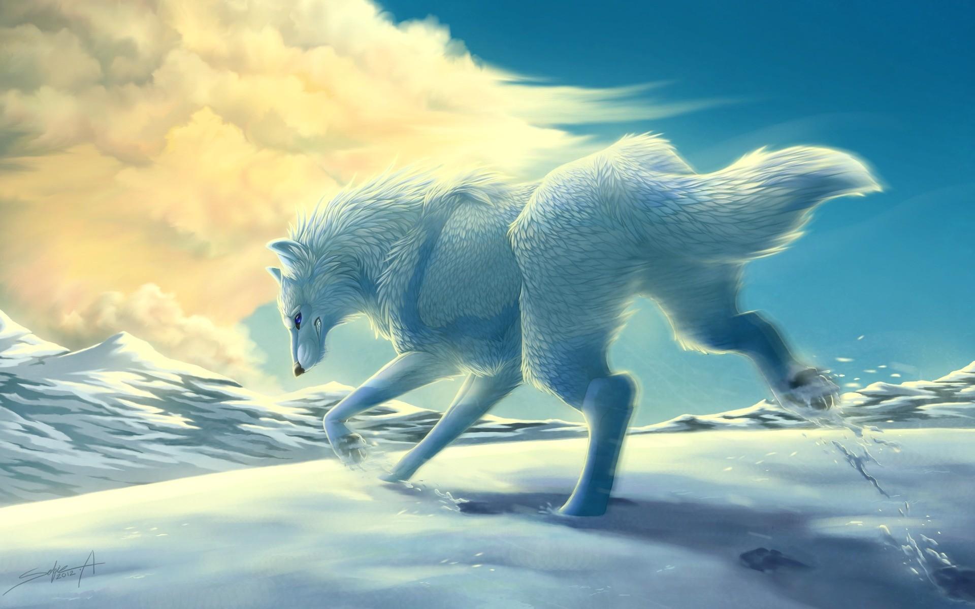 หมาป่าหิมะ Mountains-winter_00419465
