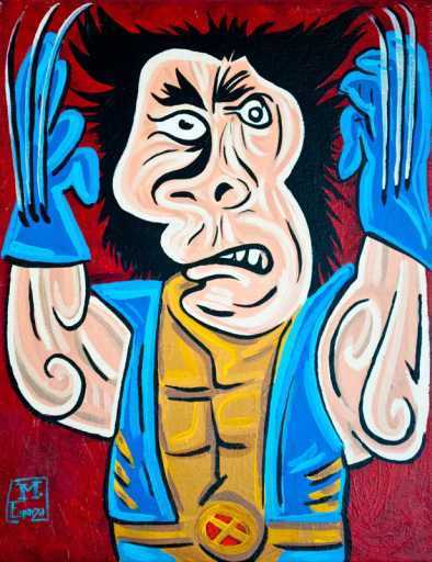 Avatars Super Héros Wolverine-picasso-drawing