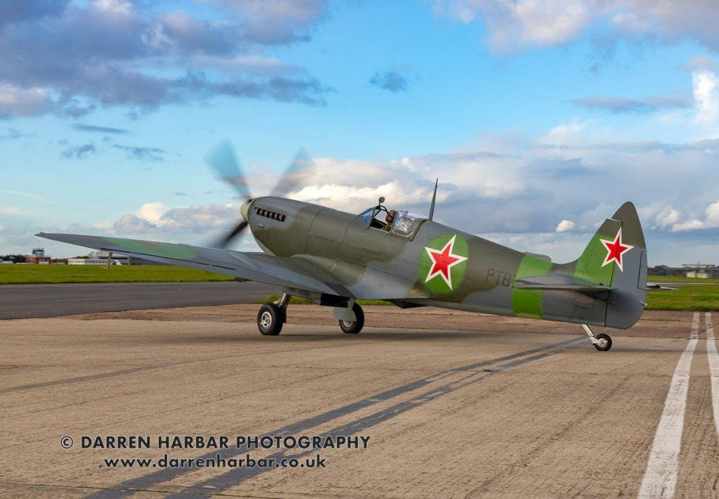 Premiers vols du Spitfire «russe» après restauration, unique au monde  Image-c-Darren-Harbar-Photography_2-1024x710