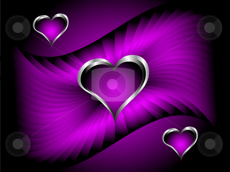 غرف بلون البنفسج Cutcaster-photo-100894447-A-purple-hearts-Valentines-Day-Background