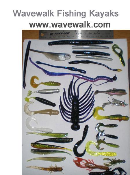 Escrito Análisis básico de los señuelos artificiales de agua dulce por: José Manuel López Pinto Assorted_lures_for_bass_kayak_fishing_Rox