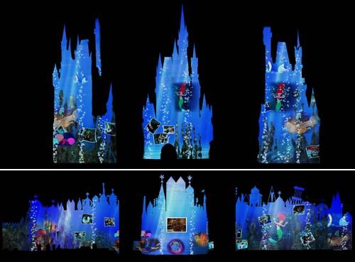 [Magic Kingdom & Disneyland Park] Magic, Memories & You : nouveau show de projections sur le Château Wdw_fs_051812_castleoverlay_ariel_500