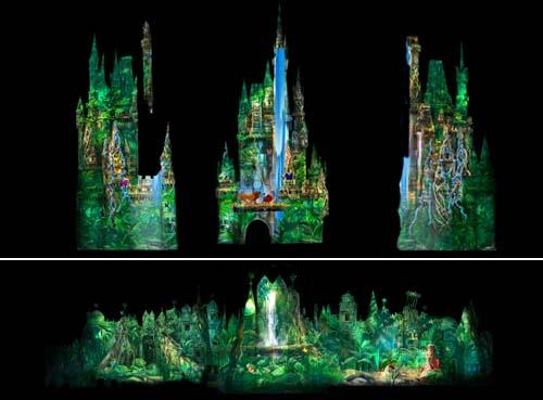 [Magic Kingdom & Disneyland Park] Magic, Memories & You : nouveau show de projections sur le Château Wdw_fs_051812_castleoverlay_jungle_500