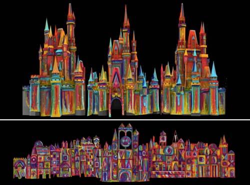 [Magic Kingdom & Disneyland Park] Magic, Memories & You : nouveau show de projections sur le Château Wdw_fs_051812_castleoverlay_paint_500