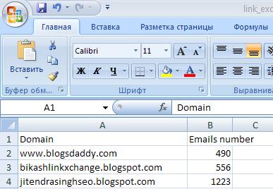 Бесплатный Datacol Email парсер EmailParserDomainToEmailReport