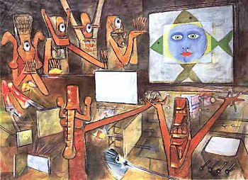 Victor Brauner : « peindre c'est la vie, la vraie vie, ma vie » Brauner.matta.intervision