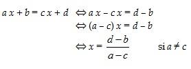 coures mathematique 4eme  Equations