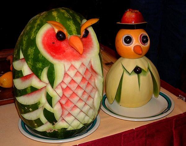 Sculpture sur fruits Vegetable%20carving%20(9)