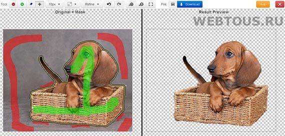 Как легко и быстро удалить фон с фотографии онлайн Udalit-fon