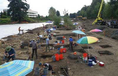 10,000-Year-Old Stone Tool Site Discovered in Suburban Seattle Bear-Creek-excavation