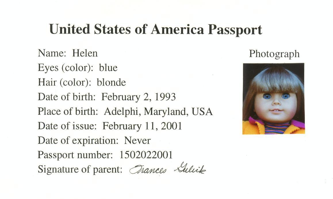 Паспорт или сертификат куклы. Зачем и как ? Blue-eyed-passport