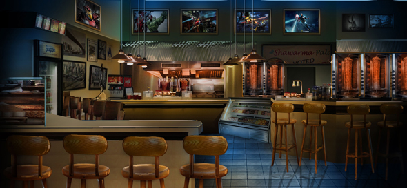 [Parc Walt Disney Studios] Avengers Campus (2021) > infos en page 1 - Page 21 Marvel-Downtown-Shawarma