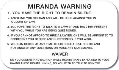 No Quick Miranda Warning Needed For Domestic Terror Suspects Under New Law Mirandacard1