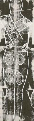 Comparaison entre les trois reliques majeures de la Passion Linceul-zones