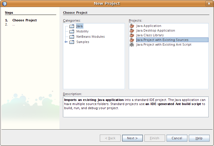 أروع برنامج لنقاط البيع OpenBravo POS مفتوح المصدر بالجافا وشرح كيفية التعديل عليه من خلال netbeans Netbeans_new_project_1