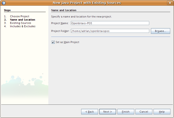 أروع برنامج لنقاط البيع OpenBravo POS مفتوح المصدر بالجافا وشرح كيفية التعديل عليه من خلال netbeans Netbeans_new_project_2