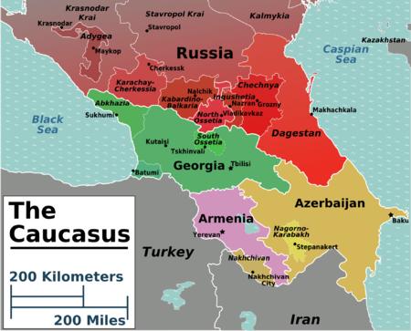 Attentats de Boston : False Flag ou récupération ?  - Page 2 450px-Caucasus_regions_map