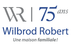 Wilbrod Robert, salons funéraires Logo-WR-75ans